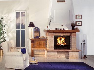 villino rustico moderno : Rivestimenti per termocamini Jolly-Mec: la bellezza ? di casa